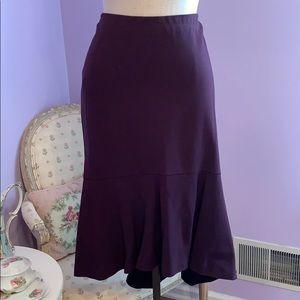 Ann Taylor asymmetric hem flounce skirt